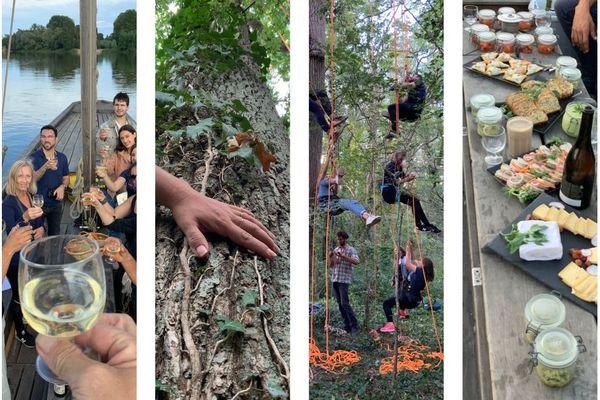 Voyage au pays de la Loire, entre navigation, grimpe d'arbre et dégustation