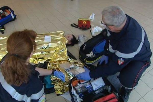 Lors de l'exercice, toutes les victimes prises en charge ont pu être sauvées.