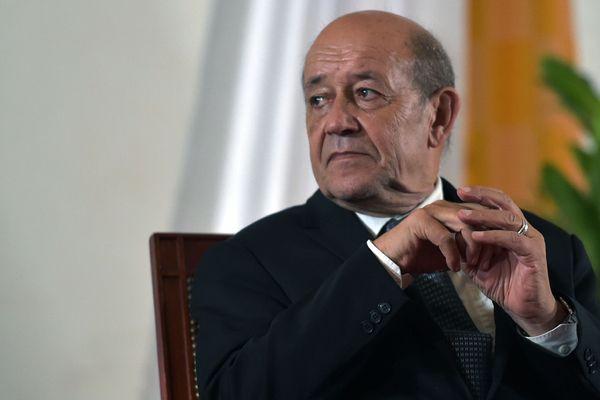 Jean-Yves le Drian lors d'une représentation au ministère des Affaires Etrangères