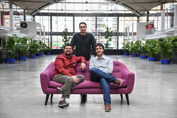 Les trois associés de la startup toulousaine HD Rain