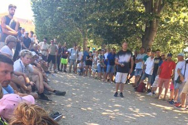 Le public est venu nombreux assister à cette deuxième partie entre Puccinelli et Chareyre