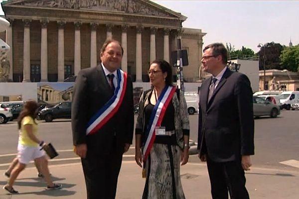 Raphaël Gauvain, Fadila Khattabi et Rémi Rebeyrotte : 3 nouveaux députés bourguignons (REM) découvrent l'Assemblée nationale.