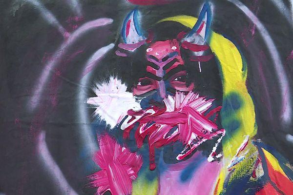 Cette toile de l'artiste défunte, exposée à Alès, dénonce la condition de la femme, selon son père, Ruben Pisano