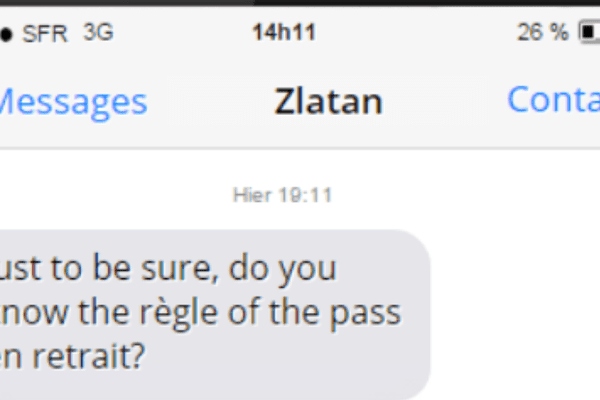 Le supposé SMS de Zlatan à l'arbitre