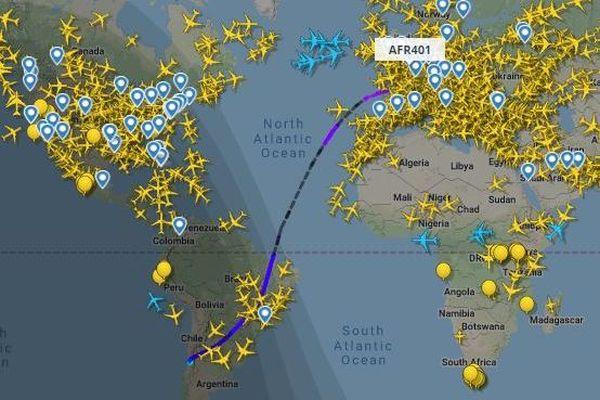 Voici le vol qui ramènera Nicolas Zepeda du Chili vers l'aéroport de Roissy-Charles de Gaulle.