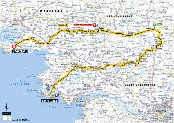 La carte de la 4e étape du Tour 2018