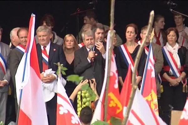 Philippe Richert à Strasbourg, à l'poque où il était opposé à la réforme des régions...