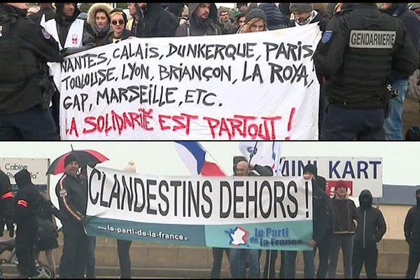 "Minfestations ""pro"" et ""anti"" migrants ce samedi à Ouisreham"