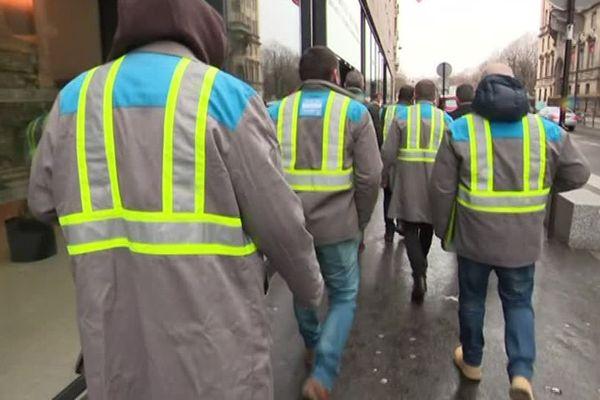 La délégation des ouvriers GM&S en route pour l'Assemblée nationale, le 29 janvier 2019.