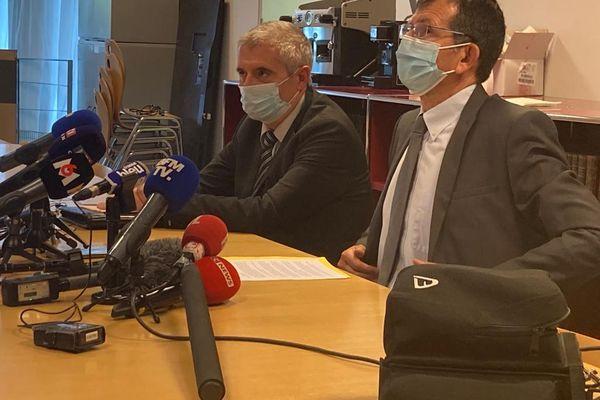 10/05/2021. Point presse du procureur de la République Philippe Guémas après l'arrestation du tueur présumé d'un policier, Eric Masson, mercredi dernier à Avignon.