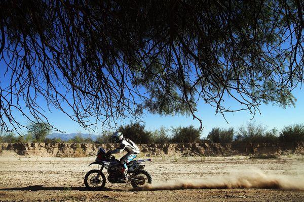 Xavier de Soultrait, pilote officiel Yamaha, ici lors de la 9e étape du Dakar 2016 en Argentine, a annoncé son abandon le 14 janvier.