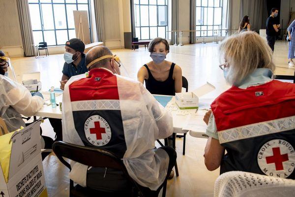La Croix Rouge a effectué les tests ce 13 mai.