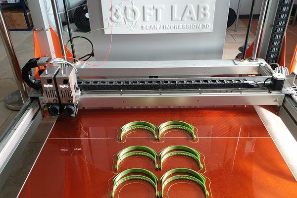 Les supports frontaux imprimés en 3D