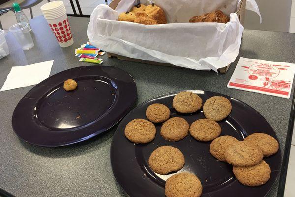 Les biscuits appétissants de Nadine ont vite disparu.