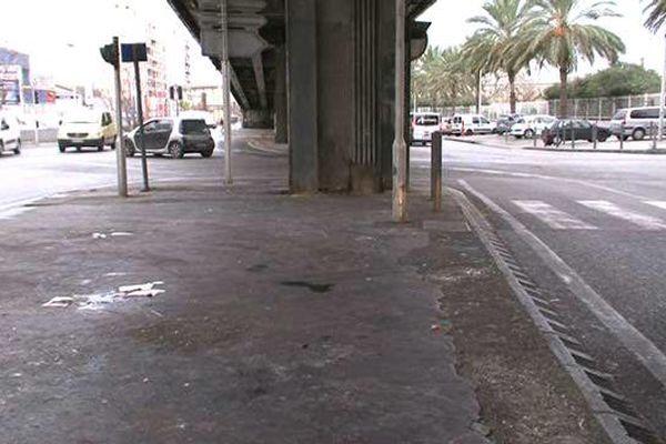 Le règlement de comptes a eu lieu sous la passerelle de Plombières, dans le 3e arrondissement de Marseille.