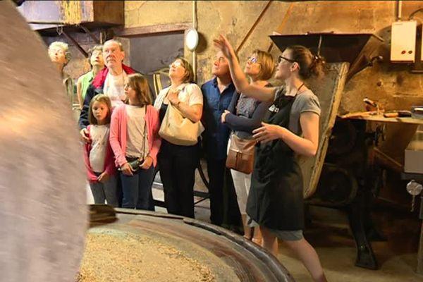 Une huilerie du Char a ouvert ses portes aux touristes pendant l'été.