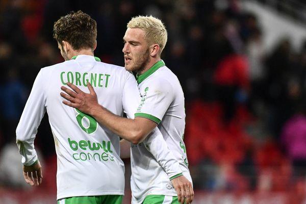 Jordan Veretout à la fin de la rencontre DijonFCO-AS Saint-Etienne