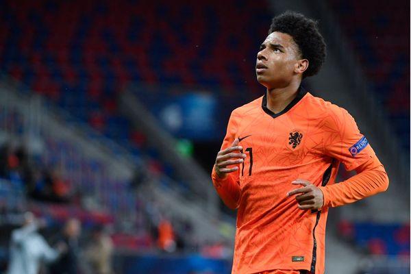 Calvin Stengs le 3 juin dernier, en Hongrie pour la coupe d'Europe U21, match Pays-Bas / Allemagne.