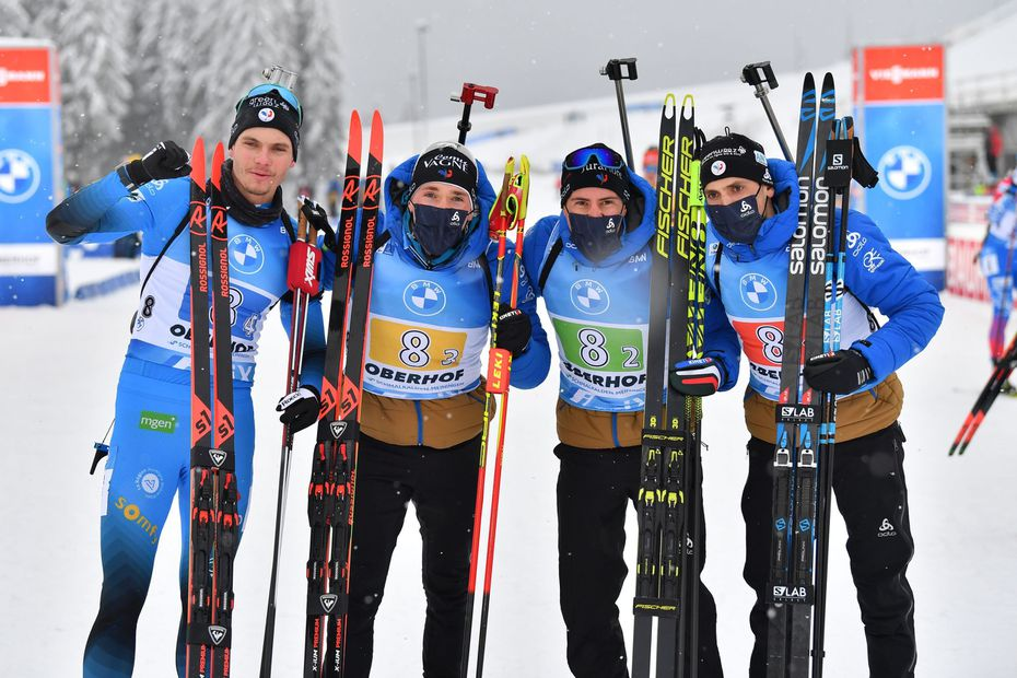 Coupe du monde de biathlon : Quentin Fillon Maillet et la France gagnent le relais d'Oberhof