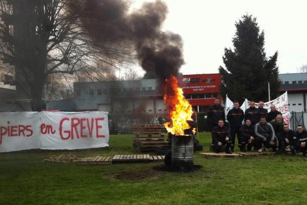 Les pompiers du Centre d'Incendie et de Secours en grève ce jeudi 16 janvier