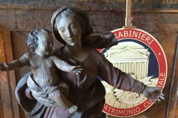La vierge de la charité, volée en 1979 à Chambéry