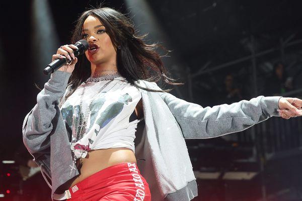 La vraie Rihanna, lors d'un concert à Indianapolis