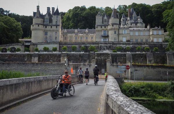 """Le Château d'Usse, à Rigny-Usse en Indre-et-Loire, un des spots sur les 900 kilomètres de la """"Loire à vélo"""" qui va de Cuffy près de Nevers à Saint-Brevin-les-Pinsen Loire-Atlantique."""