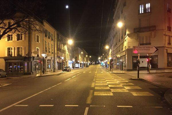 Le couvre feu hier soir à Limoges