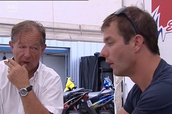 L'entrepreneur et pilote limougeaud Jean-Pierre Champeau, ici aux côtés de Sébastien Loeb dont il avait été le mécène, est décédé à l'âge de 69 ans des suites d'une longue maladie.