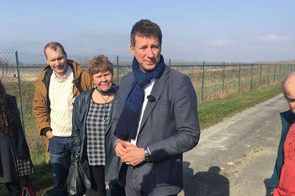 La Laigne (Charente-Maritime) - Yannick Jadot député européen EELV en visite dans le Marais Poitevin - 20 février 2019.
