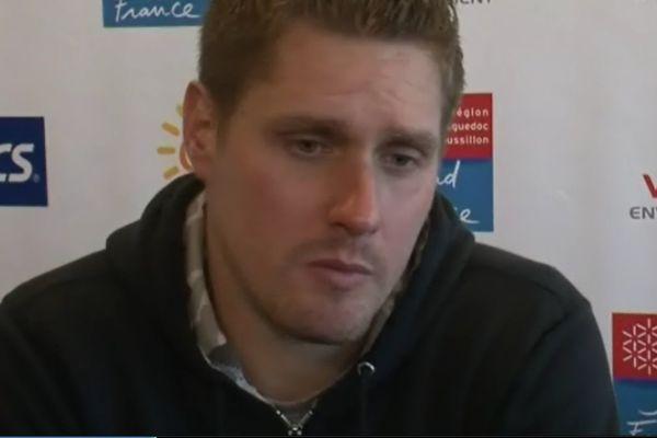 Vincent Millot, lors de la conférence de presse d'après-match à l'Open Sud de France