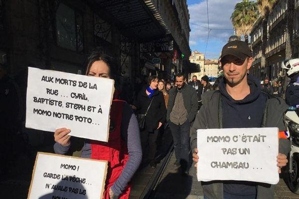 """Une marche en hommage à """"Momo"""" organisée à Montpellier."""