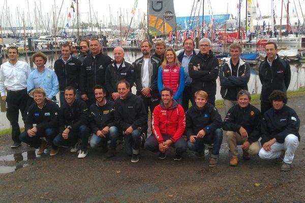 La photo officielle des skippers du 7ème Vendée Globe