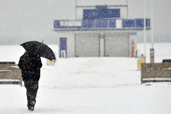 Archives, la neige à Ouistreham en 2010