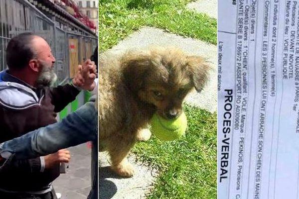 Iulian Vaduva, SDF à Paris, s'est fait volet son chiot le 19 septembre par les militants de Cause Animale Nord