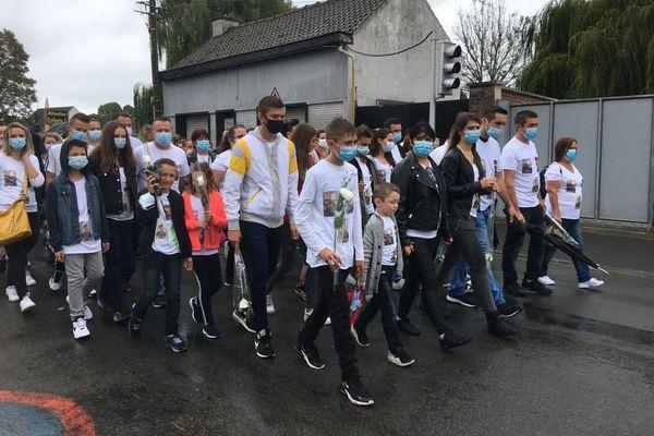 400 personnes ont participé à la marche blanche.