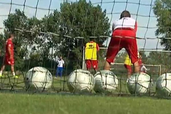Nîmes - les Crocos à l'entraînement avant la 1ère journée de Ligue 2 contre Angers - 30 juillet 2014