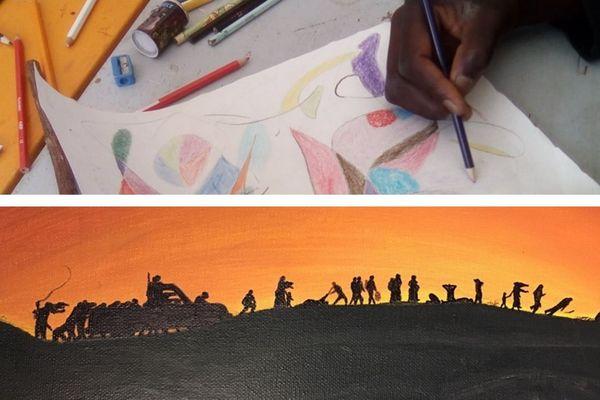 Atelier artistique pour les migrants de Calais