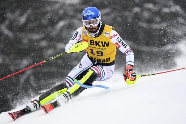 Jean-Baptiste Grange le 16 janvier 2021 à Flachau en Autriche.