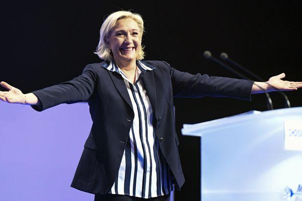 Le dernier meeting de le Marine Le Pen à Nice, il y a un an, lors de la campagne présidentielle.