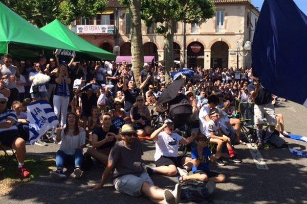 500 supporteurs ont assisté  l'esplanade du gravier à Agen à la finale d'accession qui opposait ce dimanche le SUA et Montauban