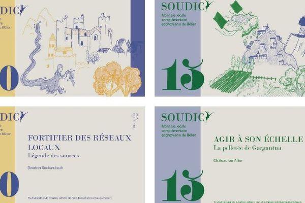 Les billets des Soudicys se réfèrent aux contes et légendes locales de l'Allier