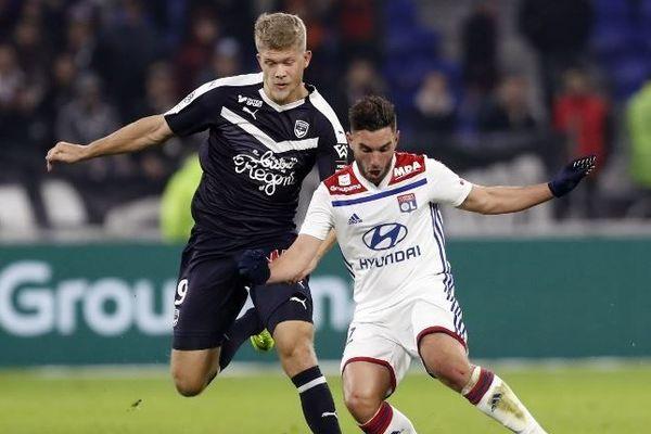 L'attaquant bordelais Andreas Cornélius a inscrit le but de l'égalisation contre Lyon à la 75e minute