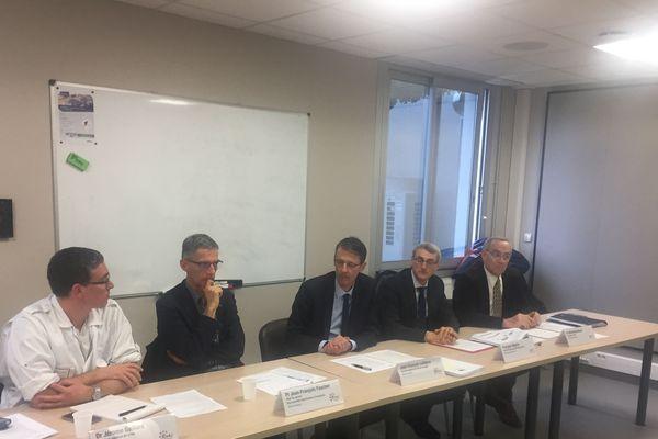 COVID-19 - conférence de presse au CHU de Limoges, le 5 mars 2020