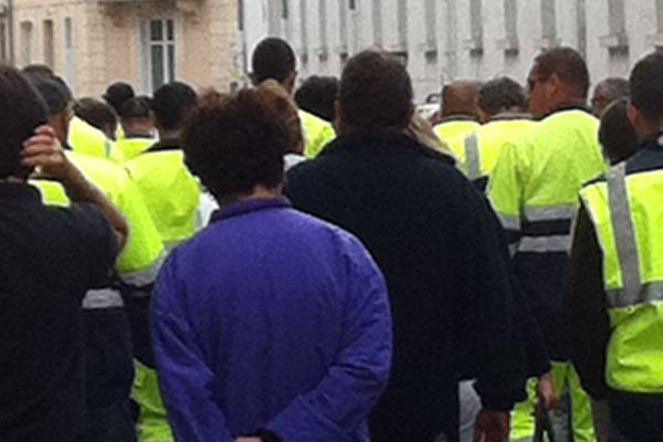 Marche silencieuse des éboueurs de Châteauroux