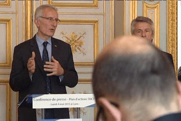 Guillaume Pépy, président du directoire de la SNCF ce lundi 4 mai à Caen