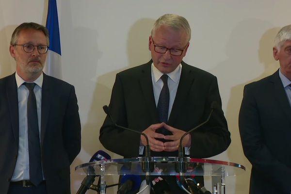 Lyon - La conférence de presse du Procureur de Paris Rémy Heitz, en charge de l'enquête. 25/5/19
