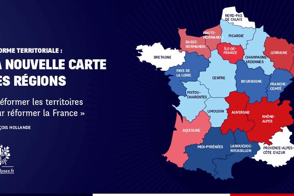 La nouvelle carte des régions révélée ce Lundi soir par la Présidence de la République