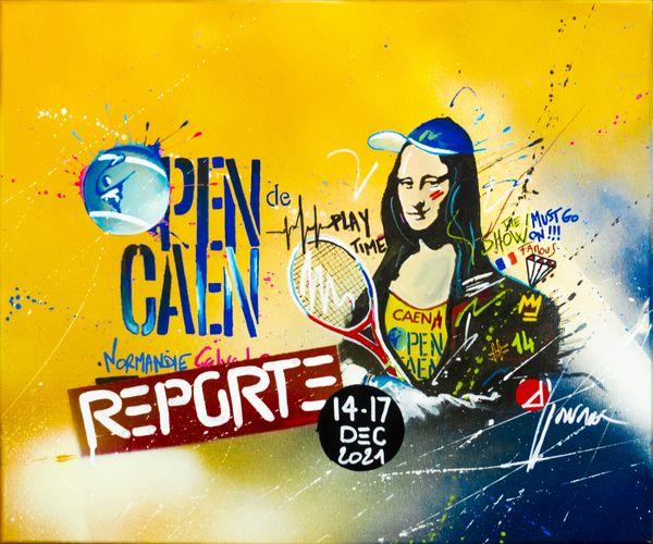 L'identité visuelle de l'Open de Caen 2021 est l'œuvre de l'artiste caennais Arnaud Journou.