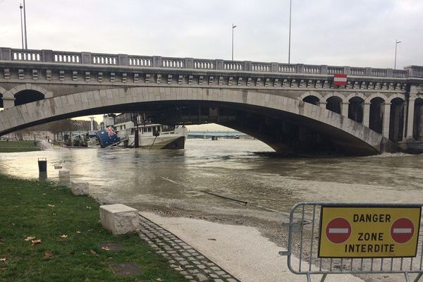 Lyon - Le pont Wilson - 23/1/18